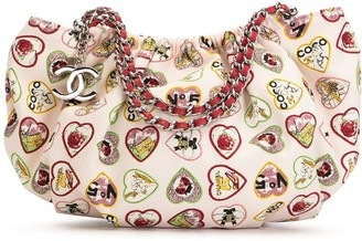 Chanel Pre Owned 2006 Valentine Heart motif chain tote bag