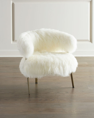 Interlude Home Darcy Sheepskin Chair