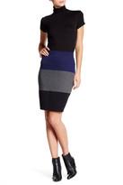 Max Studio Colorblock Ponte Skirt