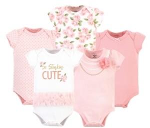 Little Treasure Baby Girls Bodysuits