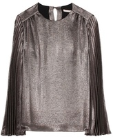 Christopher Kane Metallic silk-blend top