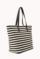 Forever 21 Striped Woven Tote