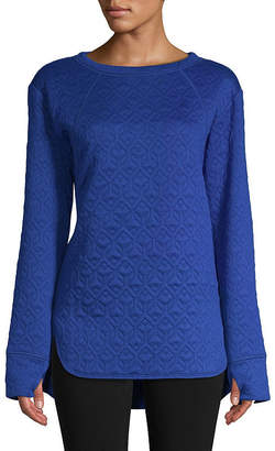ST. JOHN'S BAY SJB ACTIVE Active-Tall Womens Crew Neck Long Sleeve Tunic Top