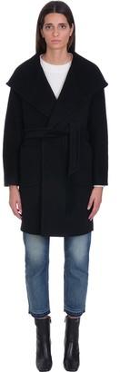 Tagliatore Chelsey Coat In Black Wool