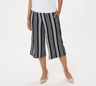 Susan Graver Printed Liquid Knit Capri Pants