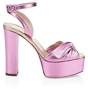 Giuseppe Zanotti Women's Lavinia Metallic Leather Ankle-Strap Sandals