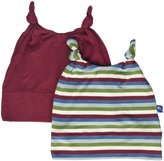 Kickee Pants Double Knot Hat Set (Baby) - Scarlet/Space Stripe-3-12 Months
