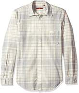 7 For All Mankind Men's Long Sleeve Vintage Plaid Shirt