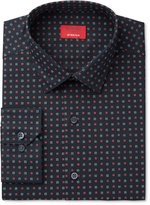 Alfani Men's Slim-Fit Stretch Performance Black Box Print Dress Shirt, Only at Macy's