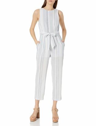 ASTR the Label Women's Presley Stripe Cutout Sleeveless Casual Jumpsuit