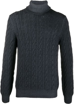 Tagliatore Turtle Neck Chunky Knit Jumper