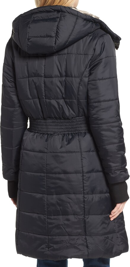 Thumbnail for your product : Modern Eternity Madison Quilted 3-in-1 Maternity Puffer Coat with Faux Fur Trim