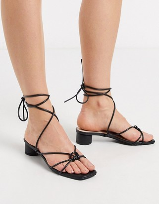 Raid Isobel strappy heeled sandals in black