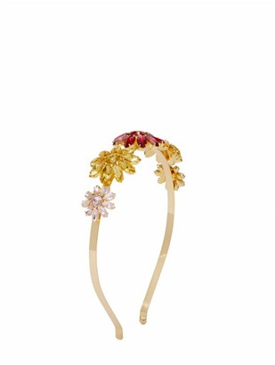 Rosantica Utopia Floral Crystal-embellished Headband - Womens - Yellow Multi