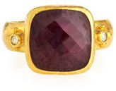 Gurhan Elements 24k Gold Constantine Ruby & Diamond Ring, Size 6.5