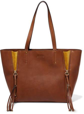 Chloé Milo Medium Leather Tote - Light brown