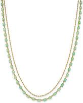 Kate Spade Gold-Tone Aqua Stone Layer Necklace