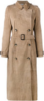 Desa Collection - double breasted trench coat - women - Cotton/Suede - 38