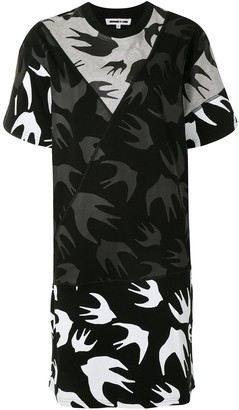 McQ Swallow Swallow Print T-Shirt Dress
