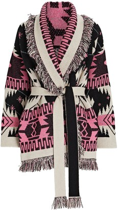 Alanui Cosmic Icon Fringed Wrap Cardigan