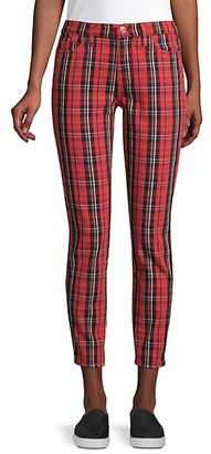 Current/Elliott The Stiletto Plaid Cropped Jeans