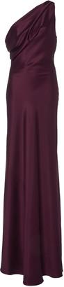 Cushnie Draped One-Shoulder Silk-Satin Gown