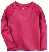 Carter's Baby Girl Lace-Shoulder Top