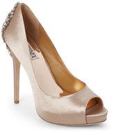 Badgley Mischka Latte Kiara High Heel Shoes