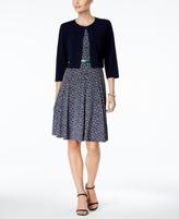 Jessica Howard Petite Printed A-Line Dress and Bolero Jacket