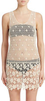 J Valdi Crocheted Tank Cover-Up