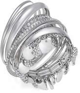 Thalia Sodi Faux-Snakeskin Pave Disc Bangle Bracelet Set, Created for Macy's
