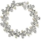 Carolee Lux Crystal and Pearl Link Bracelet