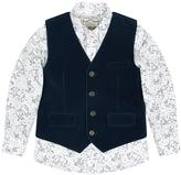 Monsoon Hugo Velvet Waistcoat And Shirt Set