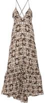 L'Agence Grace Printed Silk Maxi Dress