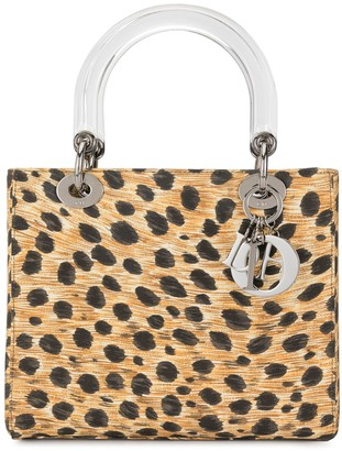 Christian Dior pre-owned Lady cheetah-print 2way bag