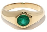 Thumbnail for your product : LIZZIE MANDLER May 18kt Gold & Emerald Signet Ring - Green Gold