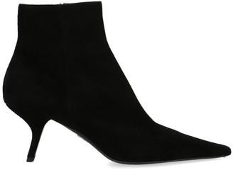 Prada Asymmetric Heel Ankle Boots