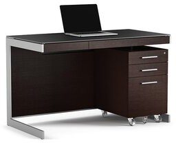 Sequel Glass Desk BDI Color (Frame): Espresso