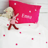 Minna's room Personalised Girls Star Bed Linen