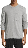 ATM Anthony Thomas Melillo Raw-Cut Crewneck Vintage Sweatshirt, Light Gray