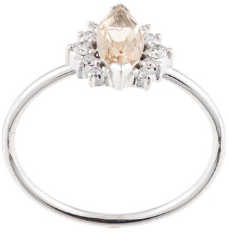 Natalie Marie 14kt white gold Amelie quartz and diamond ring