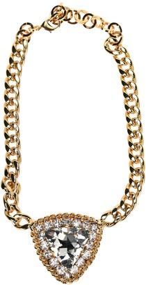 Alessandra Rich Crystal Pendant Chain Necklace