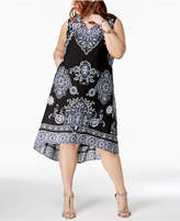 INC International Concepts I.N.C. Plus Size High-Low Midi Dress, Created for Macy's