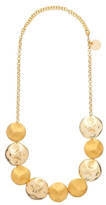 Vanda Jacintho - Hammered Gold-plated Disc Necklace - Womens - Gold