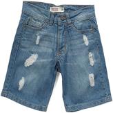 Smiths American Light Blue Denim Distressed Shorts - Kids
