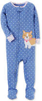 Carter's 1-Pc. Dog-Print Dog Footed Cotton Pajamas, Baby Girls (0-24 months)