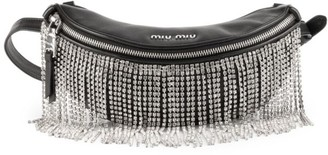 Miu Miu Crystal Fringe Leather Belt Bag