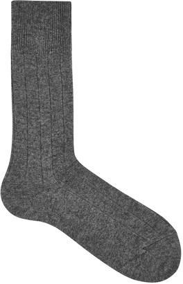 Falke Grey Cashmere Blend Socks