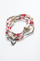 J. Jill Beaded Heart Wrap Bracelet