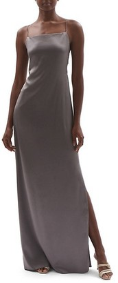 Helmut Lang Silk Satin Maxi Slip Dress